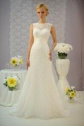 Кружевное свадебное платье (айвори)